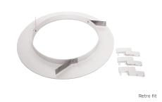 Rax 200Retrofit Ring for Ø200-280 mm, hvid