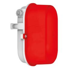 Signallampe oval E27 (max 60W) grå/rød IP43 50605