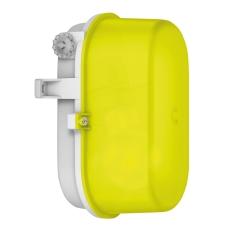 Signallampe oval E27 (max 60W) grå/gul IP43 50605