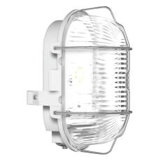 Skotlampe oval med gitter LED 9,1W 840 grå IP44