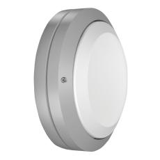 Vægarmatur Ø270 Glas-F LED 8,7W 840 sølv 5/40 lux IP66