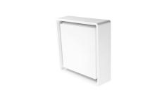 Væg-/Loft Frame Square LED 7,2W 3000K, 500 lumen, sensor hvi