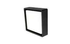 Væg-/Loft Frame Square LED 6W 3000K, 500 lumen, sort, IP65