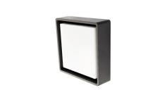 Væg-/Loft Frame Square LED 6W 3000K, 500 lumen, grafit, IP65