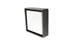 Væg-/Loft Frame Square LED 7,2W 3000K, 500 lumen, sensor gra