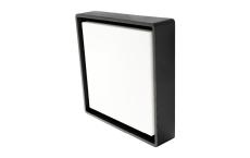 Væg-/Loft Frame Square Maxi LED 22W 3000K, nødlys, sort