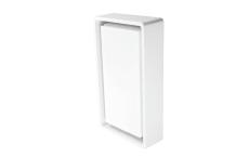 Væg-/Loft Frame LED 7W 3000K, 670 lumen, sensor, hvid, IP65