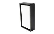 Væg-/Loft Frame LED 7W 3000K, 670 lumen, sort, IP65