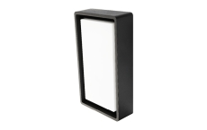 Væg-/Loft Frame LED 7W 3000K, 670 lumen, sensor, sort, IP65