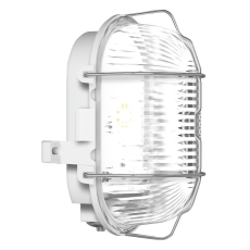Skotlampe oval med gitter LED 9,1W 830 grå IP44