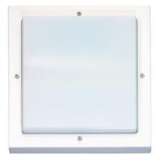 Vægarmatur Bassi LED 10W 830 med skumringsrelæ hvid