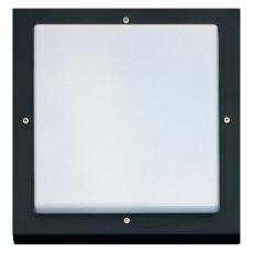 Vægarmatur Bassi LED 10W 830 med skumringsrelæ sort