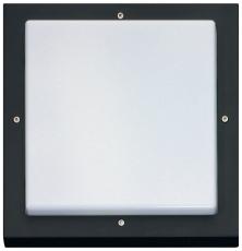 Vægarmatur Bassi LED 10W/830 Sensor Sort