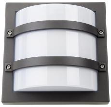 Vægarmatur Largo LED 10W 830, 540 lumen, m/skumringsrelæ gra