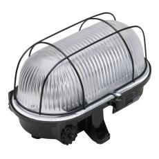 Skotlampe med Gitter E27 Sort IP21