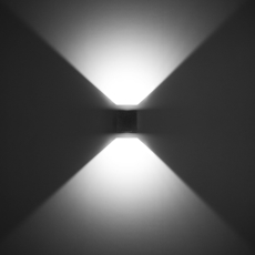 Vægarmatur Quasar 10 LED 2WB 6W 3000K, grå