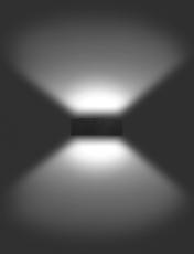 Vægarmatur Quasar 30 LED 32W 3000K, Double Tech, grå