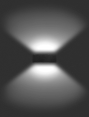 Vægarmatur Quasar 30 LED 32W 3000K, Double Tech, antracit