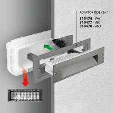 Vægarmatur Indbygning Insert+ 1 LED 7W 3000K WH1 hvid