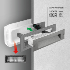 Vægarmatur Indbygning Insert+ 1 LED 7W 3000K AN3 antracit