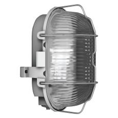 Skotlampe oval med gitter E27 (max 60w) grå IP44 50500