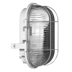 Skotlampe oval med gitter E27 (max 100W) grå IP44 50400