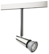 Zip Spot 120 mm LED 6W 827, 350 lumen, børstet stål (1-faset