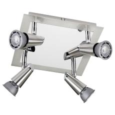 Loft Armatur Con 4x6W LED 2700K børstet stål