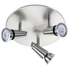 Loftarmatur Con Rondel LED 3x6W DimToWarm børstet stål
