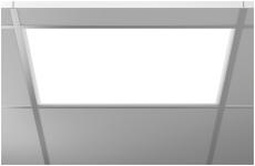 Indb. Armatur Sidelite Eco LED 34W 830 595x595 prismatisk