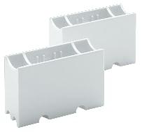 Linestra fatning S14s 2 sokler hvid