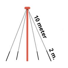 Sken flagstangskæde 10+2M waterfall effekt 440 LED varmhvid