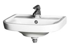 GBG 2560 Nordic vask hvid med hanehul og overløb