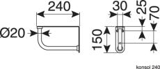 GBG 860-3 Classic vask hvid uden overløb og hanehus