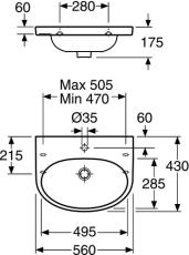 GBG 5556 Nautic hvask 56x43 til montering på bolte eller bær