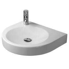 Architec vask 58 cm h71 u/overløb med forlokket hanehul vens
