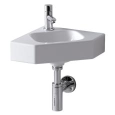 Ifö Icon hjørnehåndvask 330 x 330 mm hvid til bolte