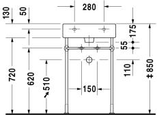 Metalstativ til vask 635451xxx