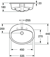 GBG 7G28 Saval nedfældningsvask