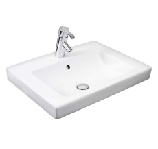 GBG 4551 Artic nedfældningsvask hvid med hanehul og overløb