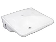 GBG 740-1 Rehab vask hvid uden overløb med hanehul