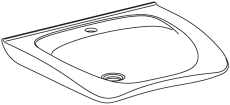 Pressalit Matrix New Curve ergonomisk håndvask, hvid