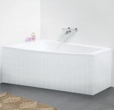 Ifö Acryllic badekar 1500 x 900/500 mm asymmetrisk venstre