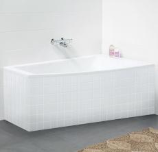 Ifö Acryllic badekar 1500 x 900/500 mm asymmetrisk højre