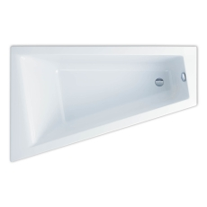 Ifö Acryllic badekar 1600 x 1000/500 mm asymmetrisk venstre