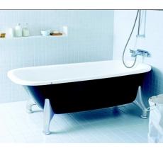 Ifö Caribia fritstående 1500 mm badekar sort