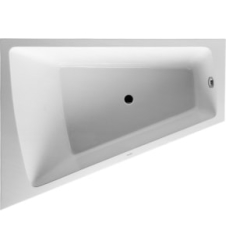 Bathtub Paiova 1700 x 1300 mm hvid corner left, with integra