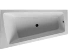 Bathtub Paiova 1700 x 1000 mm hvid corner left, with integra