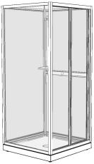 Ifö Next kabine overdel NK 90 x 70 cm
