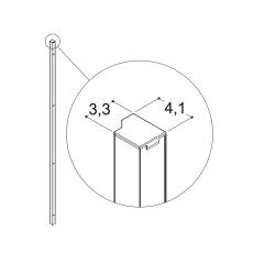 Dansani Match Vægprofil satin til model A,B,C